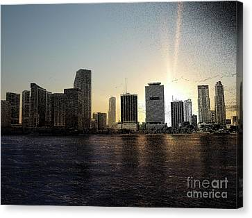 Miami, Florida Skyline Canvas Print by Eye Travel