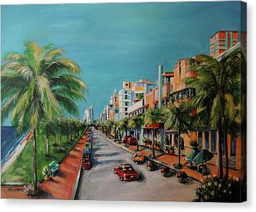 Parker Canvas Print - Miami For Daisy by Dyanne Parker