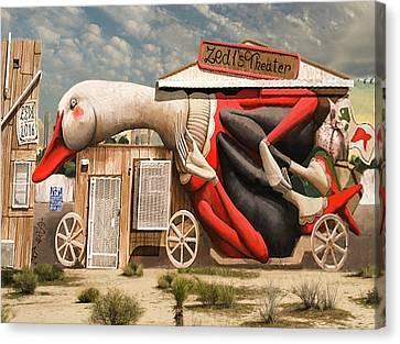 Canvas Print featuring the digital art Miami Graffiti by Jeff Burgess