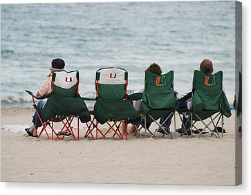 Miami Hurricane Fans Canvas Print by Rob Hans