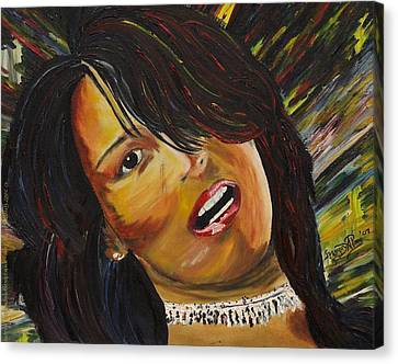 Miami Latina Canvas Print by Gregory Allen Page