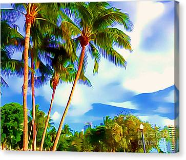 Miami Maurice Gibb Memorial Park Canvas Print by Patrice Torrillo