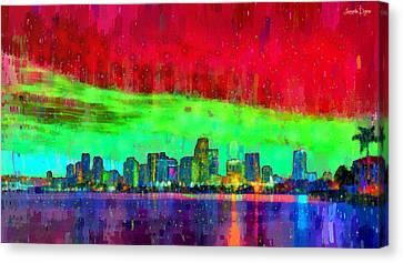 Miami Skyline 109 - Pa Canvas Print