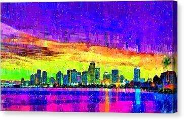 Miami Skyline 150 - Da Canvas Print