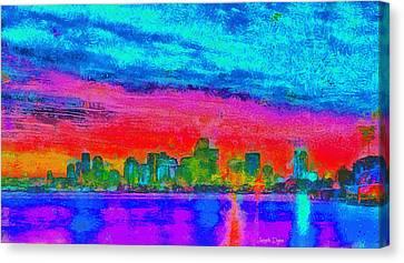 Free Canvas Print - Miami Skyline 161 - Da by Leonardo Digenio