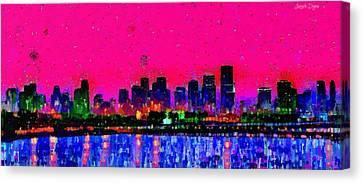 Miami Skyline 23 - Da Canvas Print