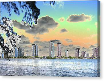 Miami Skyline Abstract Canvas Print by Christiane Schulze Art And Photography