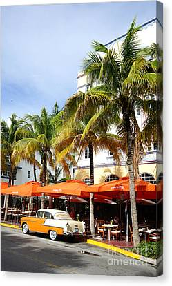 Miami South Beach Ocean Drive 8 Canvas Print by Nina Prommer