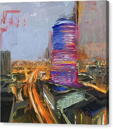Miami Tower 234 1 Canvas Print by Mawra Tahreem