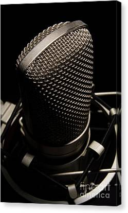 Mic Canvas Print by Brian Jones