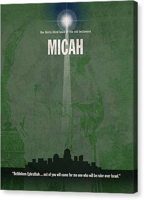 Micah Books Of The Bible Series Old Testament Minimal Poster Art Number 33 Canvas Print