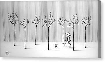 Micah Monk 10 - Snowmonk Canvas Print