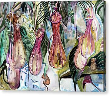 Mice In The Pitchers Canvas Print by Mindy Newman
