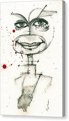 Michael C. Hall As Dexter Morgan Canvas Print by Mark M  Mellon