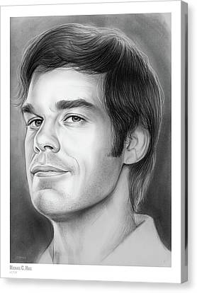 Hall Canvas Print - Michael C Hall by Greg Joens