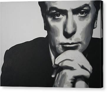 Michael Caine 2013 Canvas Print by Luis Ludzska