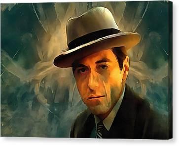 Michael Corleone Canvas Print by Dan Sproul