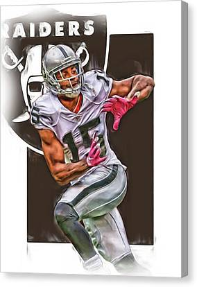 Michael Crabtree Oakland Raiders Canvas Print by Joe Hamilton