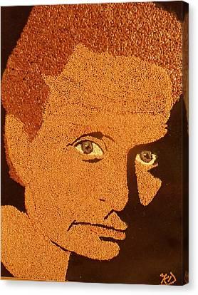Michael Douglas Canvas Print by Kovats Daniela