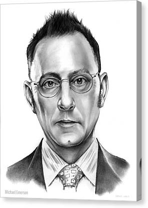 Finch Canvas Print - Michael Emerson by Greg Joens