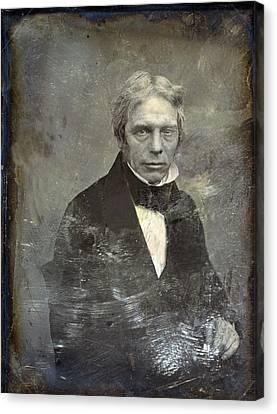 Michael Faraday 1791-1867 English Canvas Print by Everett