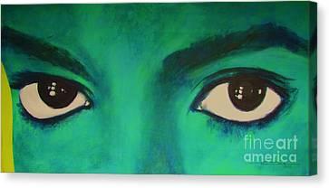 Michael Jackson - Eyes Canvas Print by Eric Dee