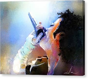 Michael Jackson 06 Canvas Print by Miki De Goodaboom