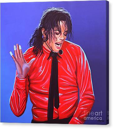Michael Jackson 2 Canvas Print by Paul Meijering