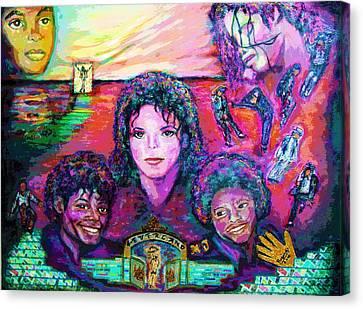 Michael Jackson 4-everland Canvas Print by Regina Brandt