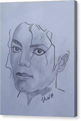 Subsequent Canvas Print - Michael Jackson by Akol Jayjay