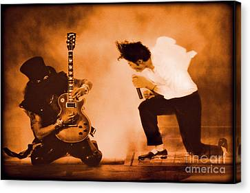 Michael Jackson And Slash  Canvas Print by Gary Keesler