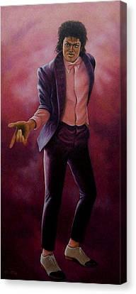Michael Jackson-billy Jean Canvas Print by Loxi Sibley