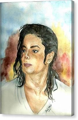 Michael Jackson Black Or White Canvas Print by Nicole Wang