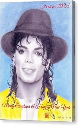 Michael Jackson Christmas Card 2015 - It's All For Love Canvas Print