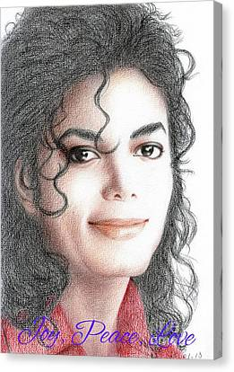 Michael Jackson Christmas Card 2016 - 001 Canvas Print by Eliza Lo