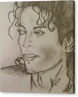 Michael Jackson Canvas Print by Collin A Clarke