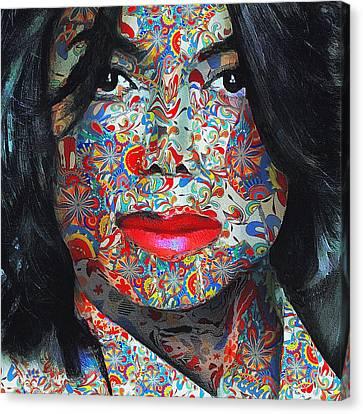 Michael Jackson Color Stamp Canvas Print