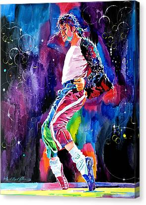 Michael Jackson Dance Canvas Print by David Lloyd Glover