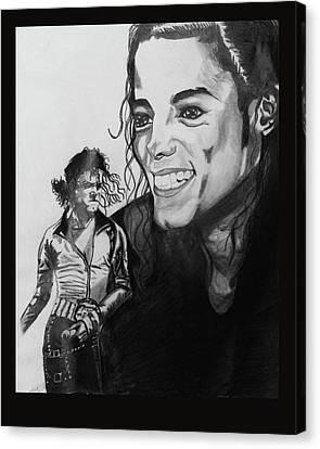 Jackson 5 Canvas Print - Michael Jackson by Daniel Murrell