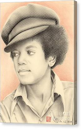 Canvas Print featuring the drawing Michael Jackson #eleven by Eliza Lo