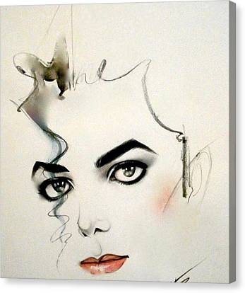 Igers Canvas Print - The Eyes Of Michael Jackson by Oscar Benero Lopez