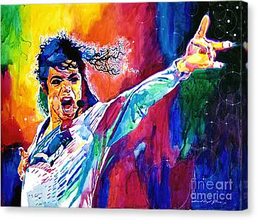 Michael Jackson Force Canvas Print by David Lloyd Glover