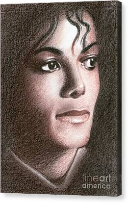 Michael Jackson #fourteen Canvas Print by Eliza Lo