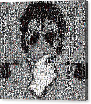 Mosaic Canvas Print - Michael Jackson Glove Montage by Paul Van Scott