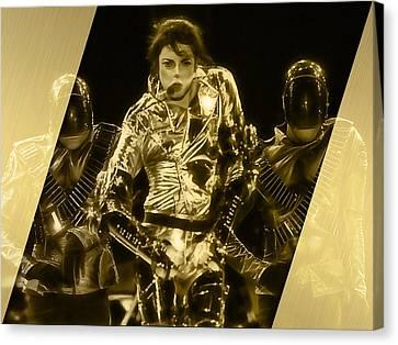 Michael Jackson Canvas Print - Michael Jackson Gold by Marvin Blaine
