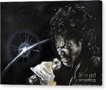 Michael Jackson Canvas Print by Keith  Thurman