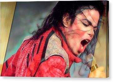 Michael Canvas Print - Michael Jackson King Of Pop by Marvin Blaine