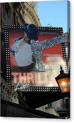 Michael Jackson Musical Canvas Print by Sophie Vigneault
