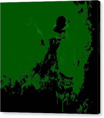 Michael Jackson Paint Splatter 4a Canvas Print