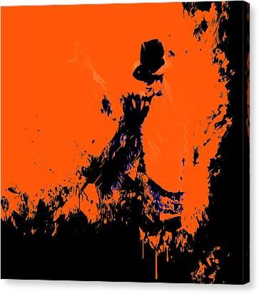 Michael Jackson Paint Splatter 4b Canvas Print